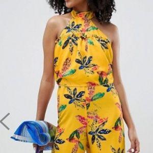 NEW ASOS floral halter jumpsuit size 6